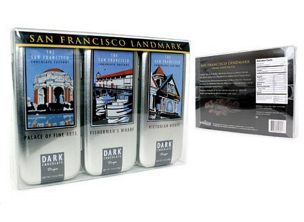 SF Landmark - 3 Tin Gift Set Dark Chocolate