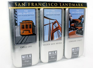 SF Landmark - 3 Tin Gift Set Milk Chocolate