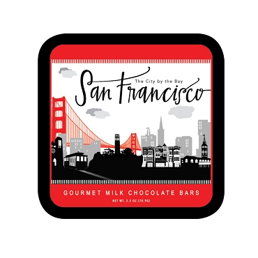 San Francisco Skyline - Milk Chocolate